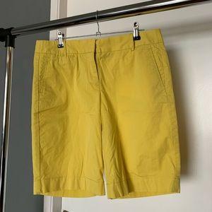 "J Crew 'Summer Weight Chino' ""Stretch"" yelw shorts"